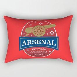 North London Red Football Rectangular Pillow