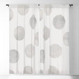 Silver Polka Dots Blackout Curtain
