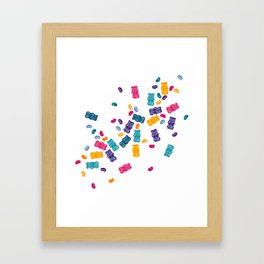 Sweet Jelly Beans & Gummy Bears Framed Art Print