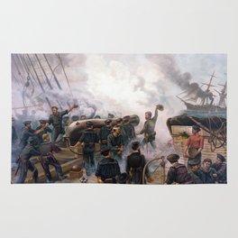 Battle Between Kearsarge And Alabama -- Civil War Rug