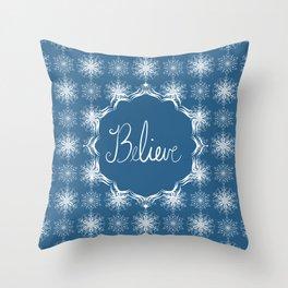 Winter Snow Believe Throw Pillow