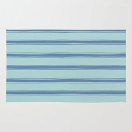 Cobalt blue french striped Rug