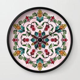 Botanical Mandala Wall Clock