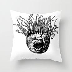Tentaface Throw Pillow