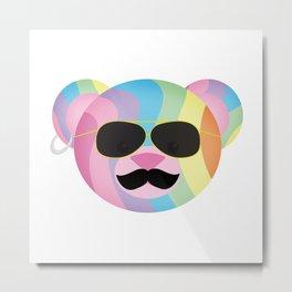 Punk Rainbow Bondage Bear Metal Print