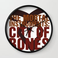 the mortal instruments Wall Clocks featuring The Mortal Instruments: City of Bones by thespngames