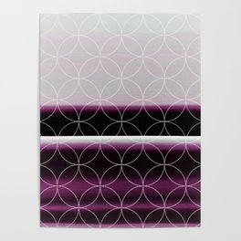 Elegant Rich Purple Design Pattern Poster