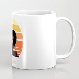 Type 2 Enneagram Retro Sunset Design Coffee Mug