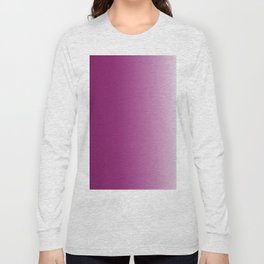 Ombre in Purple White Long Sleeve T-shirt