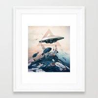 ufo Framed Art Prints featuring UFO by Tanya_tk