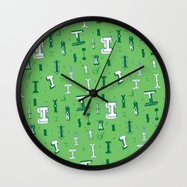 Letter Patterns, Part I Wall Clock