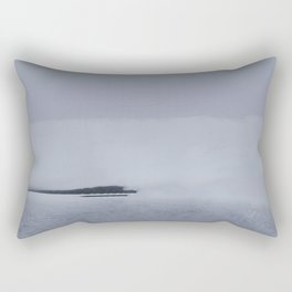 Fog Lake Rectangular Pillow