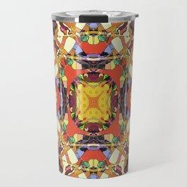 Abstract Colorful Mandala Travel Mug
