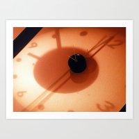 Clock at Washin Art Print