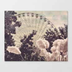 Cotton Candy Wheel Canvas Print