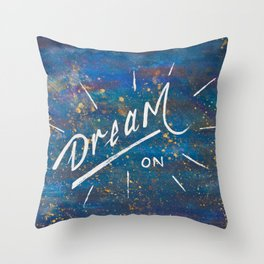 Dream On in the Starry Galaxy of Wonder Throw Pillow