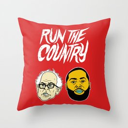 Run The Country Throw Pillow