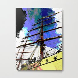 Mast rising towards the sky Metal Print