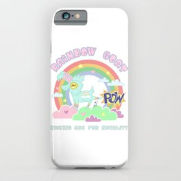 POW! Rainbow Goat Kicking Ass for Equality iPhone Case