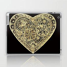 golden heart I love you Laptop & iPad Skin