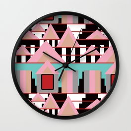 Postmodern City Skyline Wall Clock