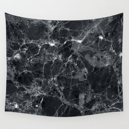 Black marble texture Wall Tapestry