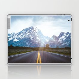 Mountain Road - Grand Tetons Nature Landscape Photography Laptop & iPad Skin