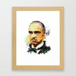 Don Corleone Framed Art Print