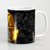 versace Mugs featuring Gangsta Pharaoh II Gold & Versace by KARAM
