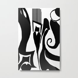 90 Abstract Print Artwork Metal Print