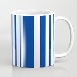 White and blue striped . Coffee Mug