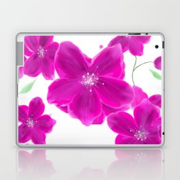 Naturshka 103 Flowers Pink White Green Laptop & iPad Skin