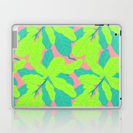Tropicana Banana Leaves in Neon Peach + Lime Laptop & iPad Skin