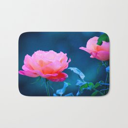 Flowers of early spring Bath Mat