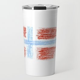 flag of norway 9 – Chalk version  snow,scandinavia,scandinavian,norwegian,oslo Travel Mug