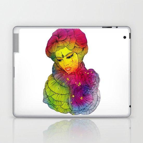 Rainbow Flower Girl Laptop & iPad Skin