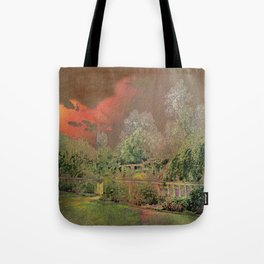 English Garden Sunset Tote Bag