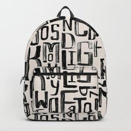 Urban & Artistic Mixture Of Latin Letters Backpack