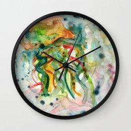 Jellyfish in Kaleidoscope Vision Wall Clock