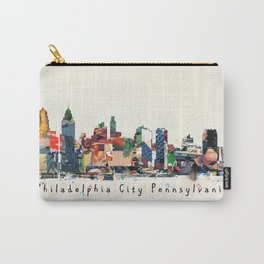 Philadelphia skyline comic Carry-All Pouch