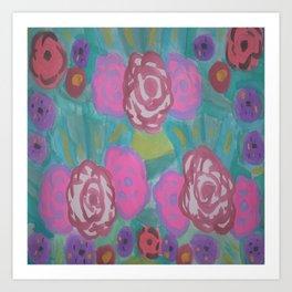 Bohemian Flower Garden Art Print