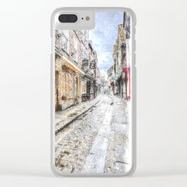 The Shambles York Snow Art Clear iPhone Case
