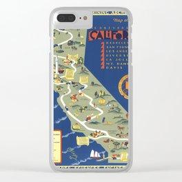CALIFORNIA University map MAP Berkeley Clear iPhone Case