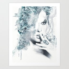Portrait of a girl with vices Art Print
