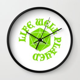 d20 Life Well Played Crit Wall Clock