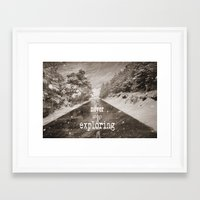 "never stop exploring Framed Art Prints featuring ""Never stop exploring ... forests"" by Guido Montañés"