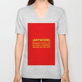 (ARTWORK) Red Unisex V-Neck