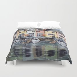 Penarth Marina Duvet Cover