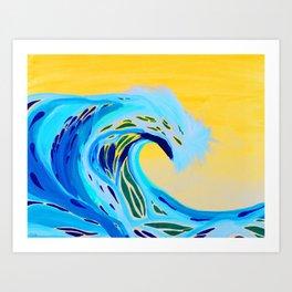 Sunrise Swell in Bali Art Print