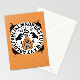 Orange And Black Modern Ouija Board With Ravens Stationery Cards
